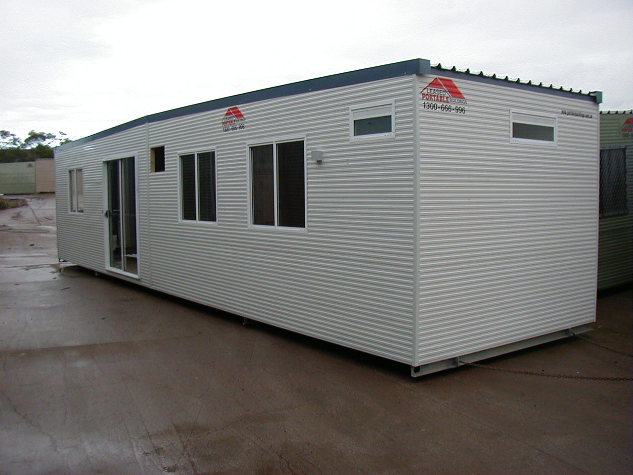 Leased portable buildings nsw our fleet of sheds for Portable shed office